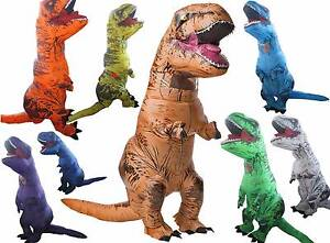 Inflatable T-Rex Costumes! Awesome Party Festival Adult Size Suit Melbourne CBD Melbourne City Preview