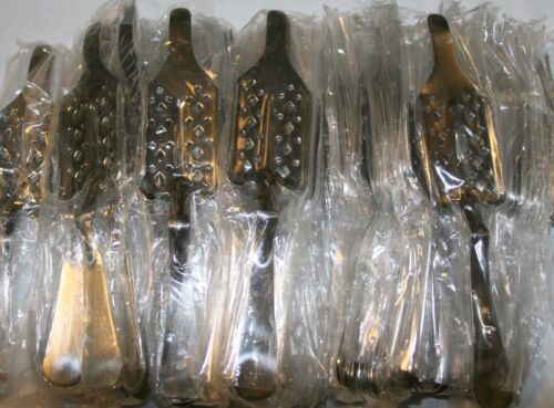 """Wholesale Lot of 50 New """"Long Nose"""" Absinthe Spoons, Diamonds & Dots pattern"""