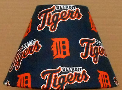 Detroit Tigers Table Lamp - Detroit Tigers Fabric Lampshade MLB Baseball SPORTS Ball Handmade Desk Table