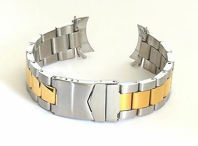 20mm Curved End Solid Stainless Steel Two Tone Bracelet, 4 Invicta 9212 Speedway