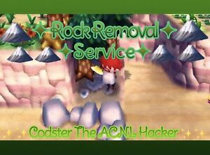 ANIMAL CROSSING NEW LEAF ROCK REMOVAL SERVICE