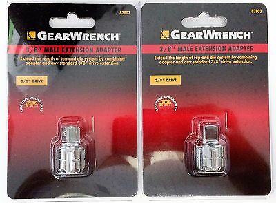 "GearWrench 82803 Male Extension Adapter 3/8"" Drive (2 Packs)"