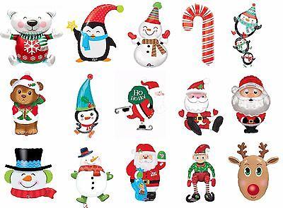 Christmas Xmas Foil Balloon - Candy cane, penguin, Santa, Snowman,Elf, Reindeer](Candy Cane Balloons)