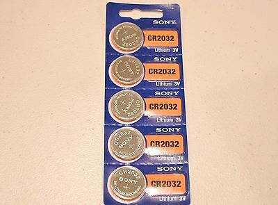 5 pc SONY CR2032 lithium 3v battery cr 2032 EXPIRE 2026
