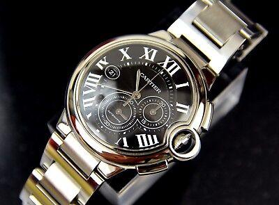 Cartier Ballon Bleu Chronograph XL Mens Watch JLC Movement Automatic 44mm