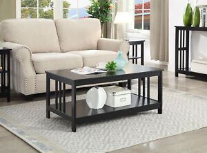 Mission Coffee Table 203382BL, Black Finish