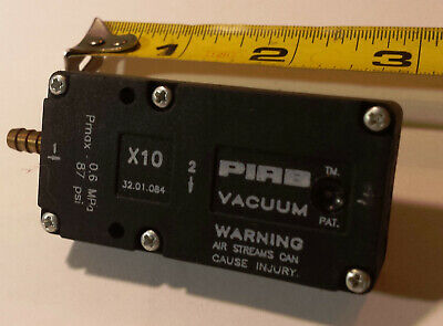 Piab X10 Mini Vacuum Pump Used