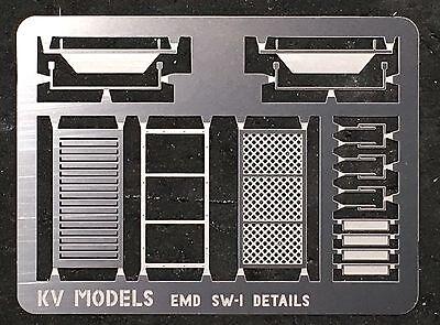ETCHED DETAIL SET FOR WALTHERS EMD SW-1 SWITCHER HO SCALE KV MODELS