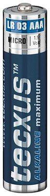 Tecxus Alkaline Maximum Batterien AAA 1200 mAh / AA 2700 mAh Mignon Micro