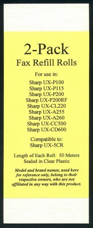 2-pack of UX-5CR Fax Refills for Sharp UX-P100 UX-P105 UX-P115 UX-P200 UX-P200RF