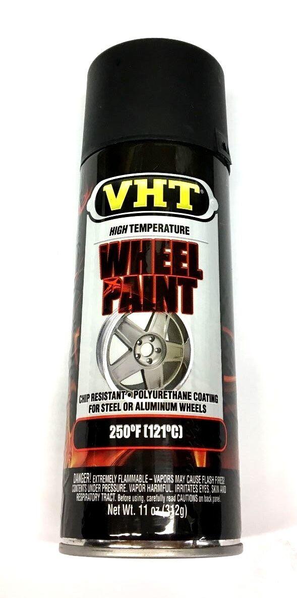 VHT SP183 Satin Black Paint, Wheel Paint, High Heat Coating, 11 oz Can