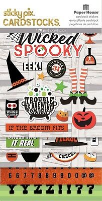 Scrapbooking Crafts PH Stickers CS Halloween Wicked Spooky Cats Witches Alphabet (Alphabet Halloween)