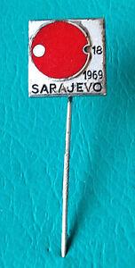 TABLE TENNIS - Yugoslavia Championship 1969 Sarajevo, Bertoni - silvered pin - <span itemprop='availableAtOrFrom'>VIENNA, Österreich</span> - TABLE TENNIS - Yugoslavia Championship 1969 Sarajevo, Bertoni - silvered pin - VIENNA, Österreich