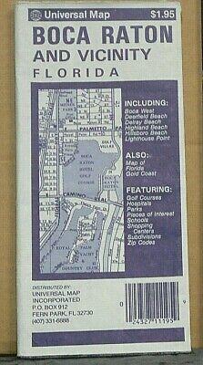 1991 Universal Street Map of Boca Raton and Vicinity, Florida Boca Raton Florida Map
