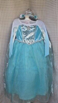Disney Frozen ELSA Halloween Costume Dress Shoes Tiara Light Up Wand SZ 7/8 EUC (Elsa Costume Shoes)