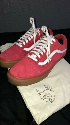 Authentic VANS X Golf Wang Syndicate Old Skool Red Gum  ~ Size 9.5 - RARE w box!