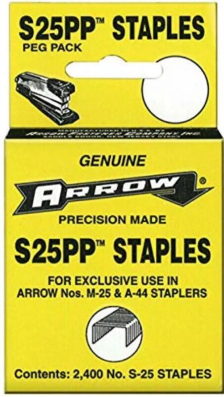 Arrow Staples S25PP 2,400 Vtg Old Desktop Small Stapler DC25 S25 M25 A44 T50 T27