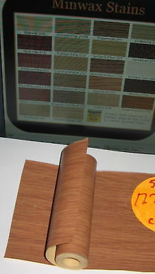 10' Strip Roll of Thin Simulated Wood Grain Walnut Veneer Paper/Vinyl Composite