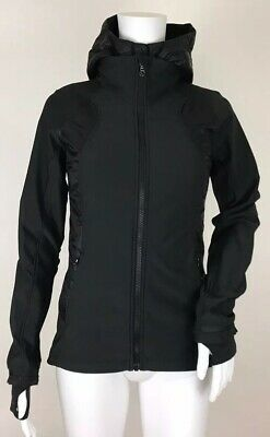 Lululemon Athletica 2 Pc Wind Runner Soft Shell Jacket Hooded Vest Womens size 4