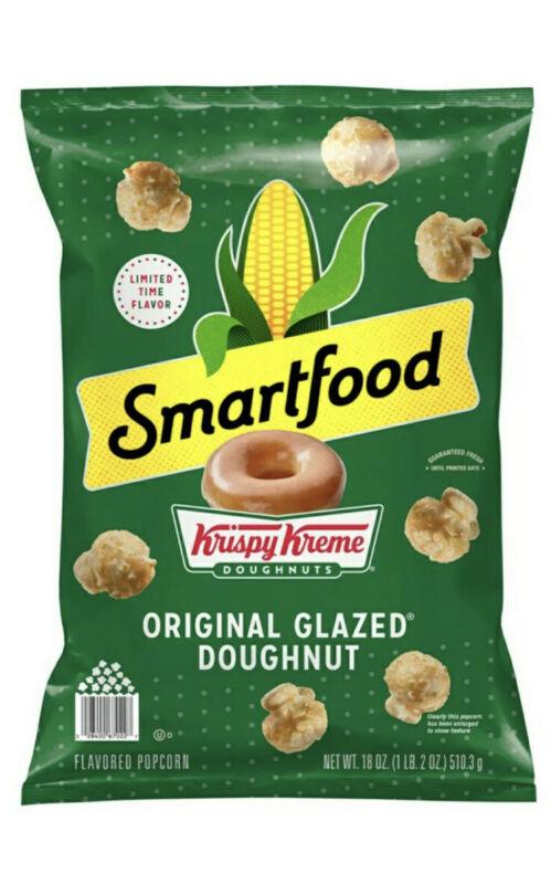 Smartfood Popcorn Krispy Kreme Doughnuts Limited Edition Big Bag Summer Food New