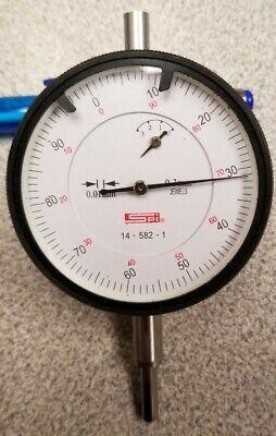 Spi 0-3mm Dial Indicator Gauge .01mm Grads 14-582-1