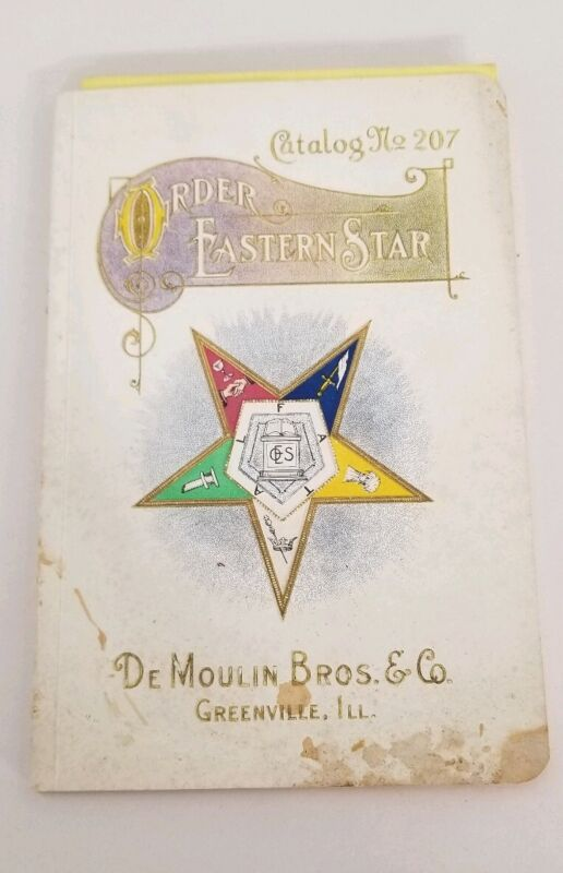 Rare early pre 1930 Order Of The Eastern Star Catalog # 207 Chapter Supplies