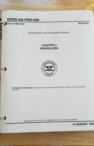Naval Sea Systems Command Underwater Ship Husbandry Manual June 1, 1996