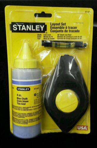 USA Made Stanley Chalk Line Layout Set 47-672