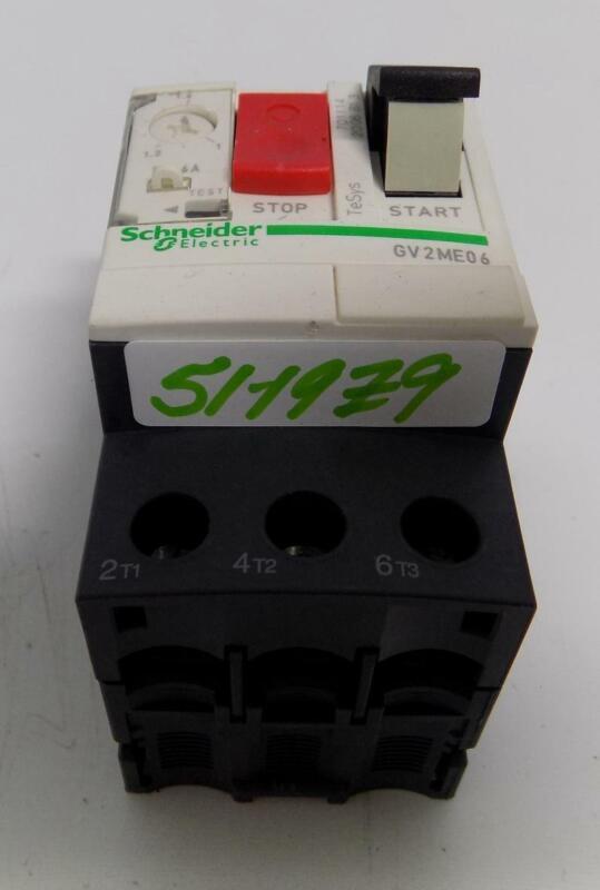 SCHNEIDER ELECTRIC 1-1.6A CONTACTOR MOTOR STARTER GV2ME06