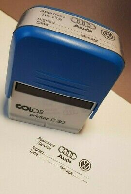 AUDI  /   VW____________GARAGE SERVICE STAMP PROPER SIZE 47X18mm TOP QUALITY