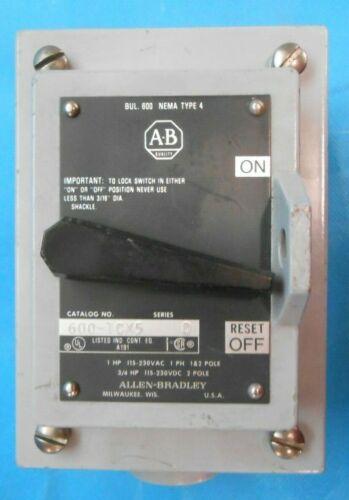 Allen Bradley 600-TCX5 Single Phase Motor Starter Start Stop Station 115/230 NEW
