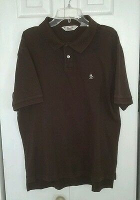 MENS PENGUIN POLO SHIRT BROWN SIZE XL