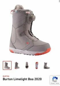 Burton Limelight Boa Snowboard boots size 8 and Union Milan Bindings