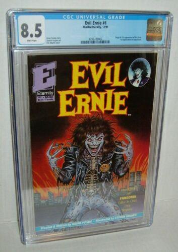 Evil Ernie #1 - CGC 8.5 WP Origin - 1991- Scarce Key 1st App LADY DEATH