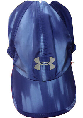 Under Armour Womens One Size Fits All Blue Adjustable Running Cap Hat