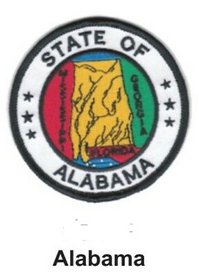 ALABAMA STATE SEAL EMBROIDERED PATCH 3