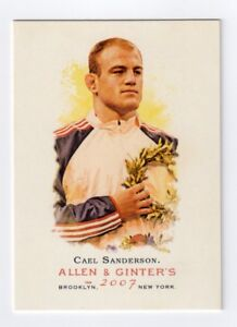 CAEL SANDERSON 2007 ALLEN & GINTER CARD #23 OLYMPICS WRESTLING IOWA