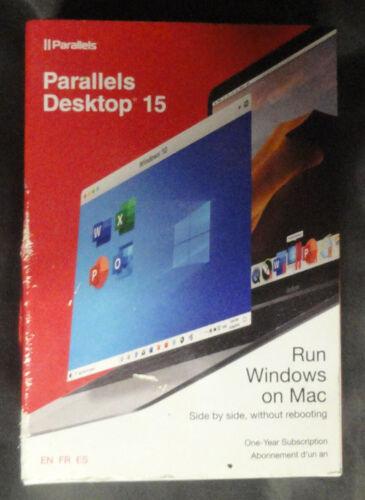 PARALLELS Desktop 15 Run Windows on Mac ONE Year RETAIL BOX Sealed