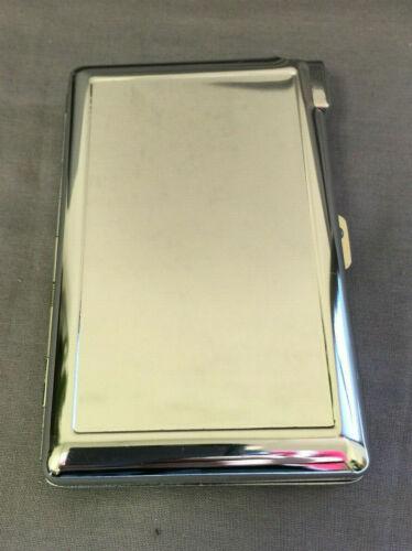Silver Cigarette Case with Built in Lighter Metal Wallet