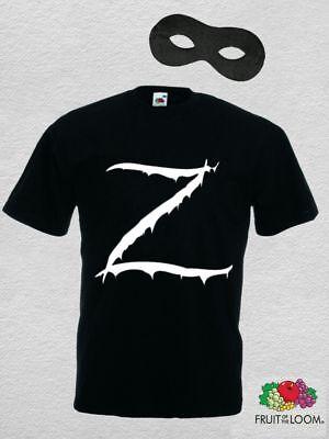 Zorro Kostüm Zubehör Set T-shirt mit - Zorro Kostüm Zubehör