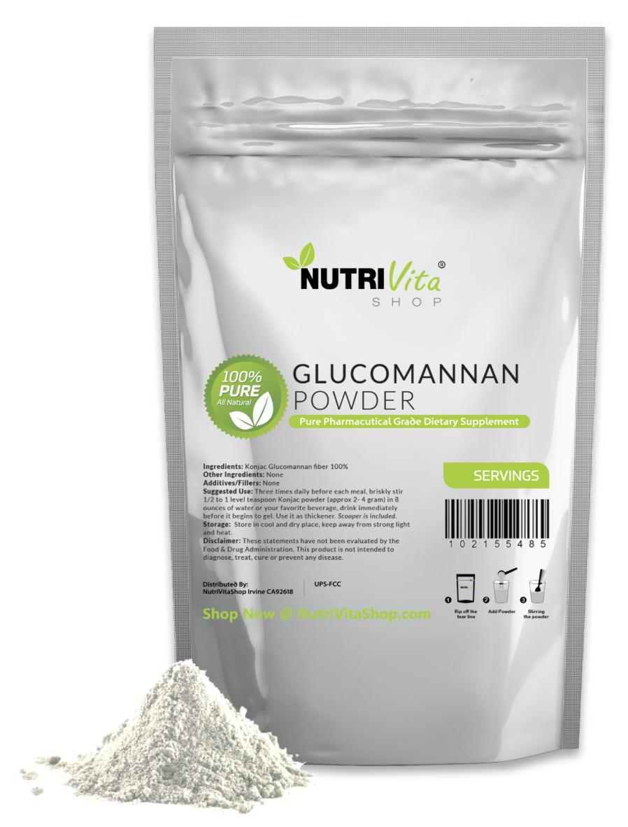 1000g (2.2 lbs) 100% Pure Glucomannan Konjac Root Powder USP Weight Loss