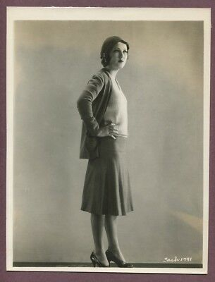 FAY WRAY Romantic Flapper Girl Suit Beret 1920s LINEN MOUNTED Glamour Photo J837