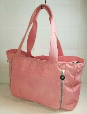 KIPLING Pink Large Nylon Expandable Bag Tote Overnight Travel Bag Baby Bag