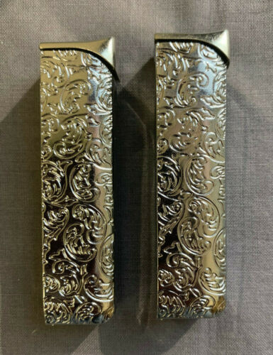 Set of 2 Lighter Replacments Fits Silver Various Etched Design Cases & our 100