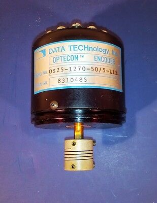Data Technology Optecon Rotary Encoder Os25-1270-505-l13 Wells Index Model 520