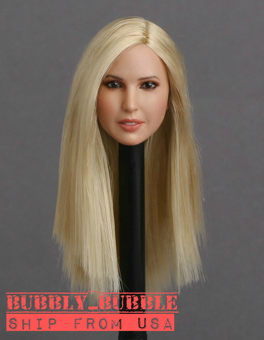 1//6 American Female Head Sculpt C BLONDE Hair For PHICEN Hot Toys Figure U.S.A.
