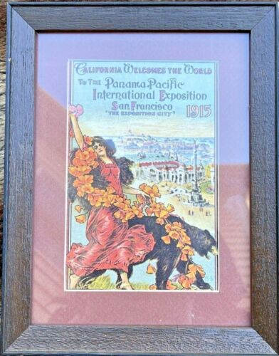 Panama Pacific International Exposition 1915 poster in wooden frame size 9x7