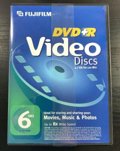 6 Pack, Fujifilm DVD Recordable Media DVD-R 8x 4.70GB Video Box - Up to 8X Write