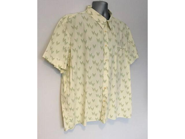 MATINIQUE Men's Yellow Green Patterned Summer Casual Shirt S/S 3XL XXXL Cotton