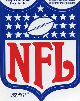 N.F.L. NATIONAL FOOTBALL LEAGUE VINTAGE AUTHENTIC STICKER STICKERS  LOGO NFL